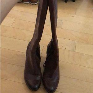 Sam Edelman burgandy brown leather boots